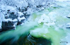 Ula River, Rondane Nationalpark, Norway (Anne Rusten) Tags: winter snow green ice water norway river norge nikon bluehour rondane winterwonderland ula greentint greenice rondanenationalpark