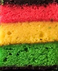Rainbow Cookie (lijk604) Tags: pink green yellow dessert rainbow december cookie chocolate iphone photohopexpress
