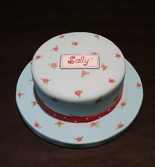 Cath Kidston Cake (Alixs Cakes) Tags: birthday blue roses cake sponge fondant cathkidston alixscakes