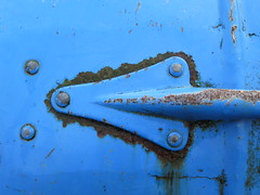 Blue Arrow (Brix5) Tags: blue abstract texture vancouver rust britishcolumbia rusty surreal vandusenbotanicalgarden bluearrow brix5