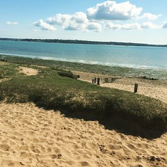 (Emily Pettis) Tags: summer spring beach sea sand sun sunshine water blue sky bluesky clouds warm hot beautiful scenery sunny walk green grass lepe nofilter