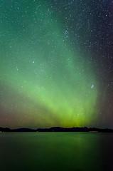 Lit Night (li Mr) Tags: auroraborealis iceland nightsky nikond7000 northernlights norurljs sigmadc1770284macrohsm sigmalens stars thingvallavatn