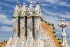 """Explore"" Chimeneas Casa Batll (FotoRojo  3.500k views 93 Explore) Tags: barcelona catalunya espaa casabatll antonigaud chimeneas terraza"