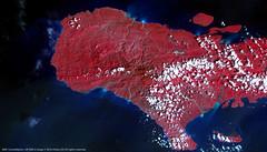 Haiti following Hurricane Matthew (DMCii) Tags: dmcii dmc uk2 ukdmc ukdmc2 22m multispectral satellitedata satelliteimages earth earthfromspace remotesensing gis geography disaster hurricanematthew haiti caribbean islands jeremie lesirois campperrin disasterdata sea clouds cayemitesbay garconsbay hurricane strongwinds red nir nearinfrared landscapes seascapes nature rivers towns cities lakes vegetation forest environment