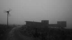 Kielder Observatory (neil mp) Tags: kielderobservatory observatory kielder kielderforest northumberland charlesbarclayarchitects darkskypark astronomy koas blackandwhite monochrome windmill windturbine grainy