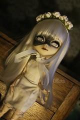 Phantasma (Alluka Zoldyck) Tags: pullip pullips custo custom phantasma flower flowers white halloween japan alluka doll dolls cancan wig handmade outfit