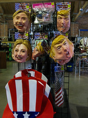 Stand off (prima seadiva) Tags: halloween masks political thriftstore trump politcal debate election chs