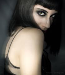 The dark passenger (Ledurneta) Tags: dark darkness portrait oscuro oscuridad retrato chica mujer pelo negro blackhair blackhaired misterious misterioso misteriosa elegante elegant beautiful look mirada precious