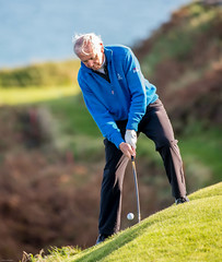 Concentration required for this shot (patch7907) Tags: chipping golf ohgl cork ireland