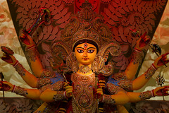 "Durga Puja....... When Kolkata Transforms into An Art Gallery (pallab seth) Tags: দুর্গোৎসব beautifulplaces westbengal grambanglarchobi best digitalart calcutta sculpture worship hinduism traditional religion religious pandal city cityatnight artistic idol streetart artisans durga puja 2016 kalighat kolkata festival bengal india bengalartisans clay durgaidol tradition durgapuja art culture beautiful highresolution image goddess ""durga kolkata"" light decoration deity দুর্গাপূজা হস্তশিল্প samsungnx85mmf14edssalens samsungnx1 kashiboselane"
