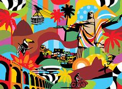 Rio de Janeiro | Pop Art (Lobo - Pop Art) Tags: riodejaneiro art arte arteurbana artistalobo artwork canvas colors holiday hotel bus lobo lobopopart paris popart print poster quadro streetart urbanografia us cristoredentor copacabana lapa favela ipanema podeaucar bondinho brasil