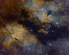IC1318b+c in narrowband (Mickut) Tags: komakallio ic1318b ic1318c narrowband borensimon triussx814 nebula emissionnebula cygnus astrometrydotnet:id=nova1783357 astrometrydotnet:status=solved