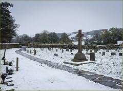 First Snow 2016 (Hector Patrick) Tags: flickrelite fujifilmx100t lightroom67 northyorkmoors northyorkshire rosedale rosedaleabbey yorkshire britnatparks churchyard snow twop