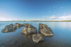 Lake Bugdasheni (PFgio) Tags: color stone lake gerogia country sky cloud mountains longexposure 700d 1020sigma canon blue ultrawide horizon water