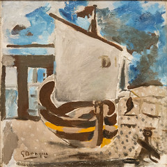 In Drydock, 1942 (Jonathan Lurie) Tags: braque art museums modern museum wisconsin georges milwaukee mam painting artinmuseums georgesbraque milwaukeeartmuseum milwaukeewisconsin modernart unitedstates us