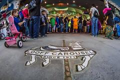 Looff Carousel (matman73072) Tags: santacruz boardwalk amusementpark rides looff carousel strangers crowd queue fisheye