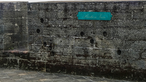 Bullet holes in Fort Zeelandia