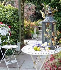 Tea in the garden... (oh.suzannah) Tags: october tea table chairs coutyard garden courtyard