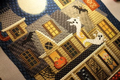 November 26 2016 Saturday (interchangeableparts) Tags: project365 needlepoint mfboo hauntedhouse finishedproject