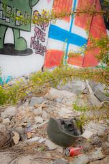 Helmet (davidthegray) Tags: war bethlehem palestine helmet soldier wall occupation