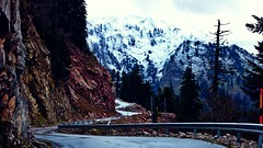 The Mountains (Elena on a journey) Tags: mountain greece snow road trip sony slta65v