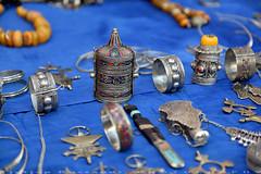 Silver Handicrafts (T Ξ Ξ J Ξ) Tags: morocco chefchaouen sefasawan d750 nikkor teeje nikon2470mmf28 blue city square silver jewelry handicraft