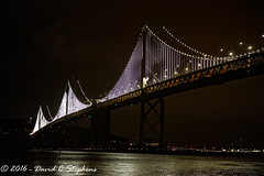 Bay Bridge Lights (Explored) (dcstep) Tags: f4a0618dxo waterbar sanfrancisco ca california usa canon5dsr ef24105mmf4lis handheld waterfront baybridge lights lightdisplay cherrycreekstatepark nature urban urbannature allrightsreserved copyright2016davidcstephens dxoopticspro113 explore explored explore430