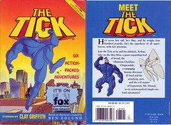 1994 THE TICK SIX ACTION PACKED ADVENTURES STORIES BY CLAY GRIFFITH (vsndesigns) Tags: the tick vs arthur sentinel prime optimus successor townsend coleman lego minifig minifigure dcon 2014 ball mylar balloon buttons bonanza pencil indie shocker gbjr toys with tie and tshirt zombie in a steel box fox promotional totally kids magazine 45 club spoon taco bell meal commercial eli stone ben edlund little wooden boy comic book merchandise rare limited edition 80s 90s collector museum naked super hero heroine collection photo screen