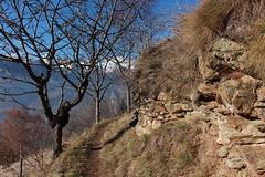 Isrables (bulbocode909) Tags: valais suisse isrables montagnes nature arbres automne bleu murs sentiers