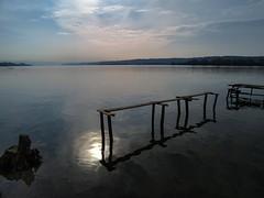 deepness (Luana 0201) Tags: dunarea danube mehedinti drobetaturnuseverin romania old rippled sun stub sky horizon