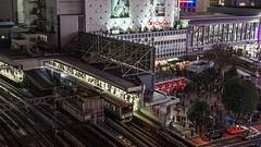 SHIBUYA (B Lucava) Tags: tokyo shibuya station city cityscape urban night crowd train railway taxi