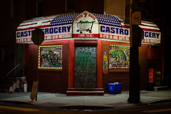 Castro Grocery (D. Coleman Photography) Tags: south philly philadelphia castro grocery corner store bodega 16th street dickinson point breeze retail mexican mexicanos night lights awning logo urban city graffiti vandalism blight food
