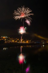 Fireworks in Teignmouth (maxarmstrong36) Tags: d7000 nightphotography night river fireworks teign devon teignmouth