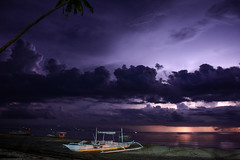 Electric Night (free3yourmind) Tags: electric night bohol philippines clouds lightning boat