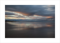 Bamburgh beach at dusk (andyrousephotography) Tags: bamburgh northumberland beach sea waves motion sunset clouds dusk pale pastels light longexposure le andyrouse eos 5d mkiii