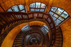 (Elbmaedchen) Tags: alstertor heintzehof staircase treppenauge hamburg roundandround oldfashioned wendeltreppe