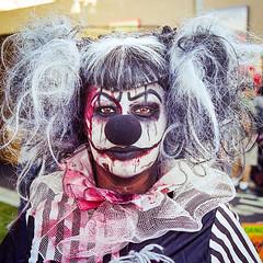 Zombie Clown (Michael VH) Tags: clown zombie kodak portra 400 color film canon a2