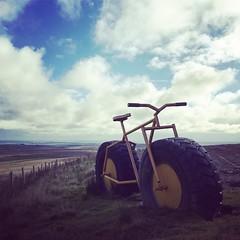 Big bike (vapour trail) Tags: big bike coldstone cut yorkshire pateley bridge