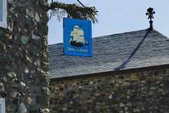 5IMG0355 Good stone (Glenn Gilbert) Tags: pubsign inn pub cabaret historical 1742 french novascotia capebreton island urban village fort restoration fortress canada arcadie arcadian arcadia stone architecture louisbourg warehouse storehouse fleur fleurdelis