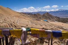 Leh (Ash and Debris) Tags: view mountans landscape ladakh clouds india himalaya flags city cityscape sky himalayas leh mountain