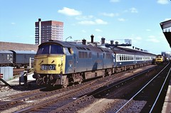 Loco D1010  |  Reading UK  |  1974 (keithwilde152) Tags: westerns thousands class52 reading uk 1974 d1010 station platforms tracks town diesel locomotives outdoor summer sun