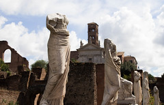 Don't lose your head (martyndeverell) Tags: sculpture headless body italy rome forums building landscape history ancient ruins marble martyndeverell canon 700d cloud sky tower europe