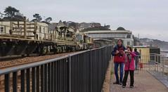66848 Redruth to Westbury 6C97 at Dawlish (train_photos) Tags: 66848 redruth westbury 6c97 colasrail dawlish