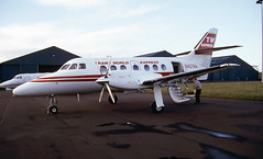 N427AM. Air Midwest British Aerospace Jetstream 3201 (Ayronautica) Tags: n427am airmidwest britishaerospacejetstream3201 twa jetstream31 february 1990 aviation turboprop ayronautica prestwick egpk scanned