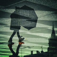 Marcher sur la ville (♪ jjuke44 ♫) Tags: reflets miroirdeau nantes flickrchallengegroup flickrchallengewinner