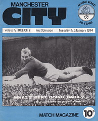 Manchester City vs Stoke City - 1974 - Cover Page (The Sky Strikers) Tags: manchester city stoke maine road 50 years football league first division match magazine 10p