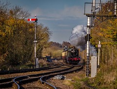 Short climb (Peter Leigh50) Tags: 6990 witherslack hall 460 class great central railway swithland sidings leicestershire gcr