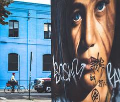 Deep Blue (Stefano Auzzi) Tags: newyork nyc manhattan urban canon stauzz 2016 art architecture photography nofilter brooklyn murales graffity bushwick colourfull eyes blueye face portrait