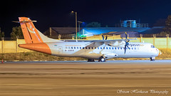 M-ABKN Elix Aviation Capital ATR 72-500 (72-212A) - cn 762 (Sri_AT72 (Sriram Hariharan Photography)) Tags: air pegasus elix aviation capital mabkn vtkam kingfisher airlines atr atr72 atr72500 vtapb blr vobl bengaluru international airport bial kia kempegowda plane spotting photography night ramp avgeek geek passion november 2016 airplane flight