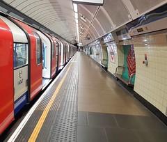 If only the underground was always this quiet...  (venesha83) Tags: london londonunderground brixton transportforlondon tube tfl transport platform vanishingpoint quiet